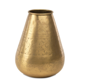 Amorli Tapered Brass Pot 1 NP04 WB e1573126914710