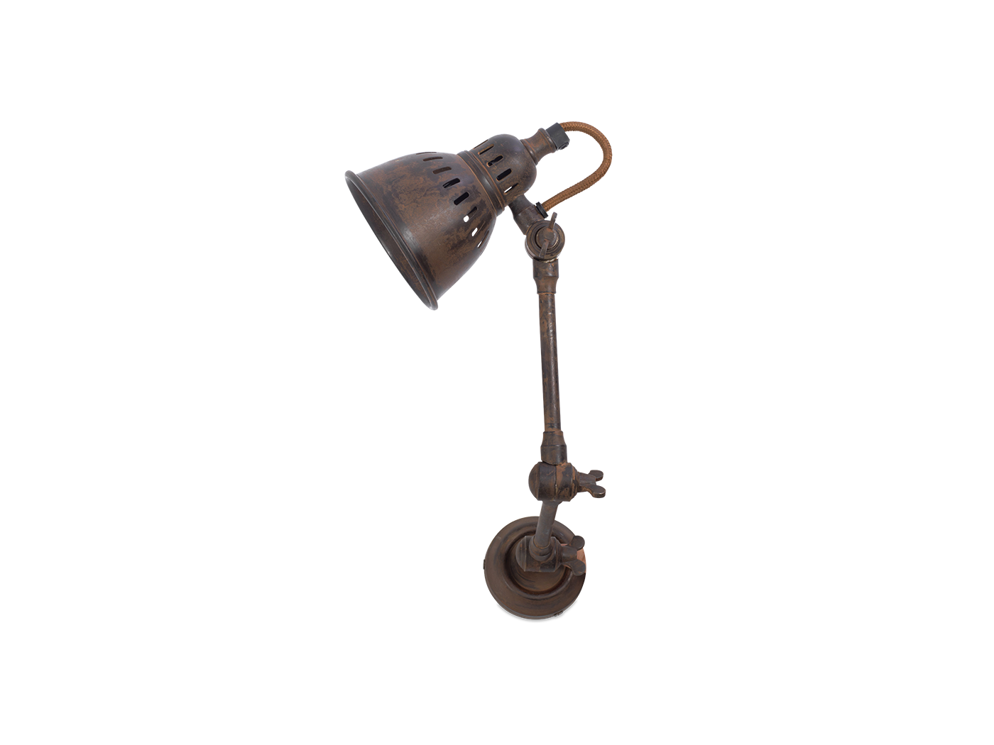 Anandur Brass Extendable Wall Light rust 1 TL0901