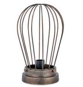Hubli Caged Lamp Bronze