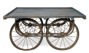 Reclaimed Wooden Coffee Table Cart 1 RI01 1 e1573075383183