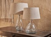 Shevali Clear Glass Lamp small tall 2 BL0601