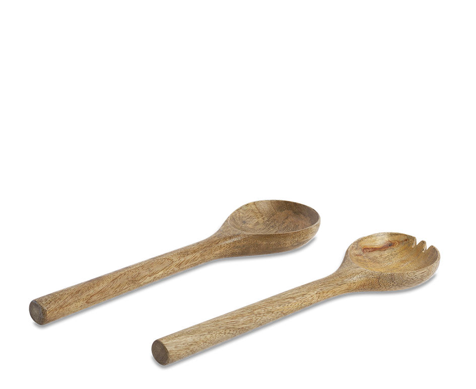 Wooden Salad Servers Short 1 WS2594 WB 4