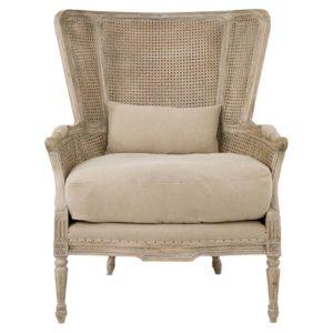 Cheltenham Oak Salon Bergere Chair With Linen Cushions 1