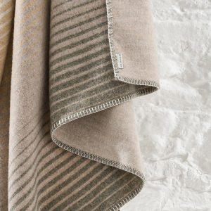 Coast Sunset Abstract Oatmeal Throw BL292 045 Detail