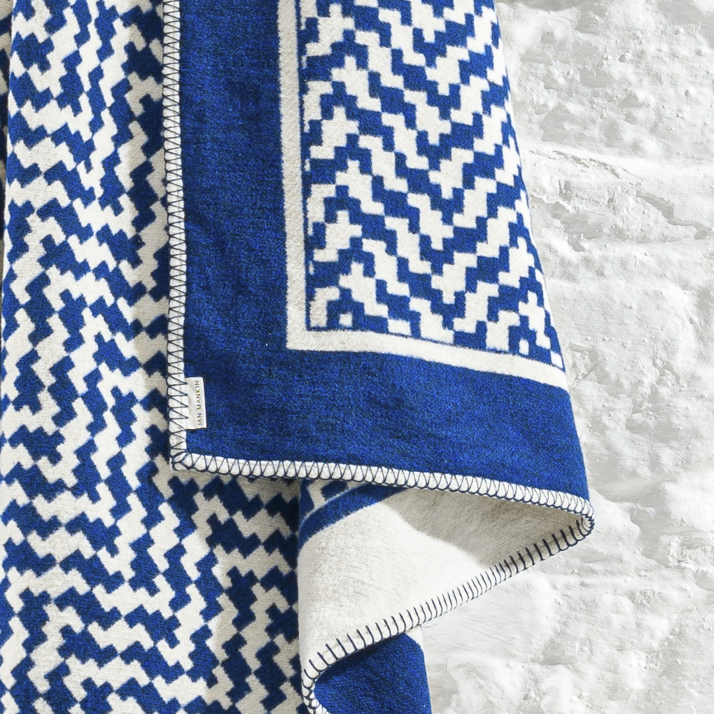 Coast Tidal Geometric Cobalt Throw TH268 191 150 Detail
