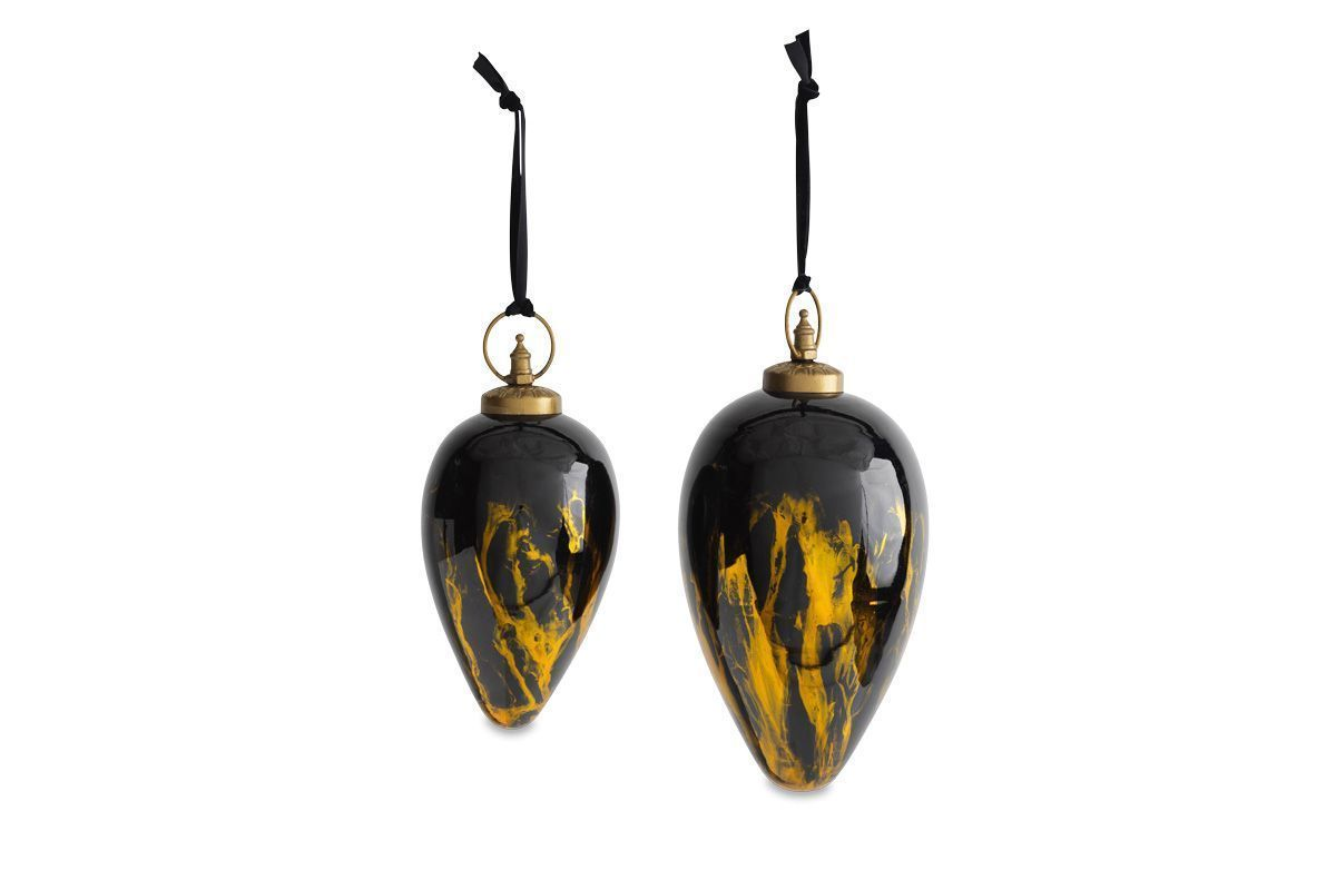 Danoa Giant Bauble Drop Aged Amber   Black 1 DB47