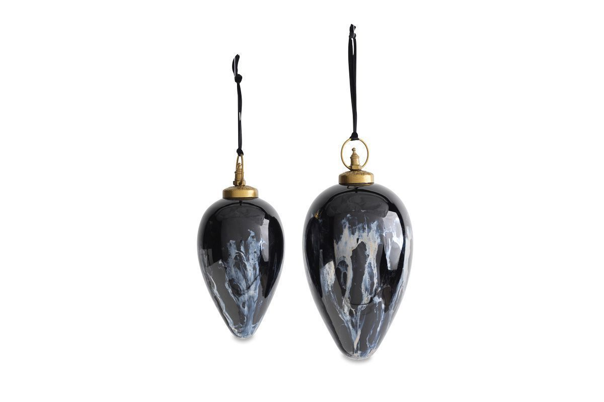 Danoa Giant Bauble Drop Aged Smoke   Black 1 DB44