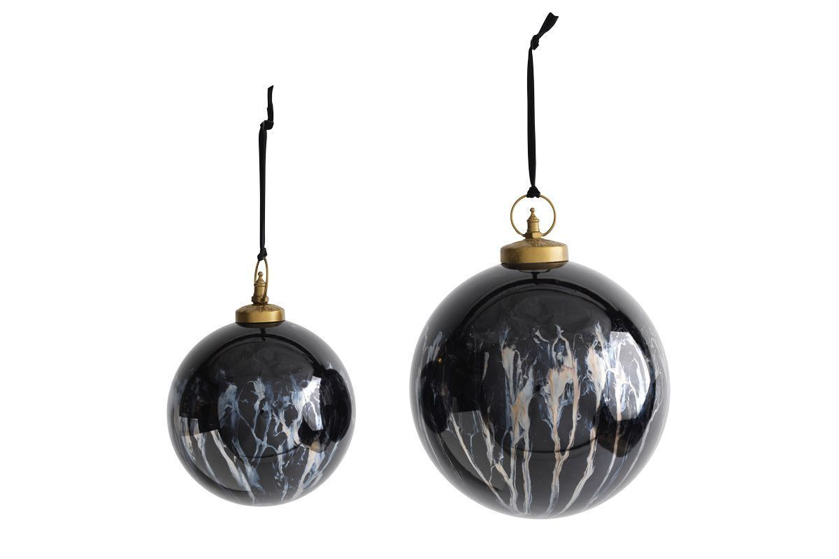 Danoa Giant Bauble Round Aged Smoke   Black 1 DB43