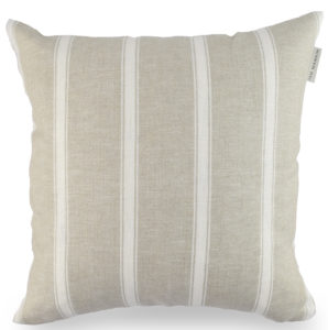 Ian Mankin Angus Stripe Nordic Ivory Cushion CU001 036 40x40