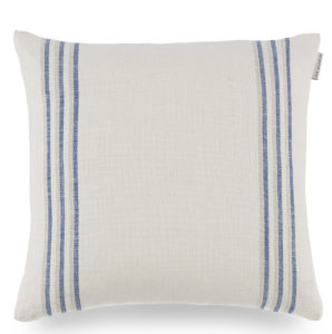 Ian Mankin Grain Stripe Indigo Cushion CU017 020 4040 40x40cm