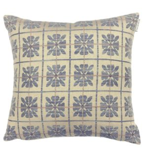 Ian Mankin Landmark 1485 Peakes Check Checked Monarch Blue Cushion CU282 200 4040