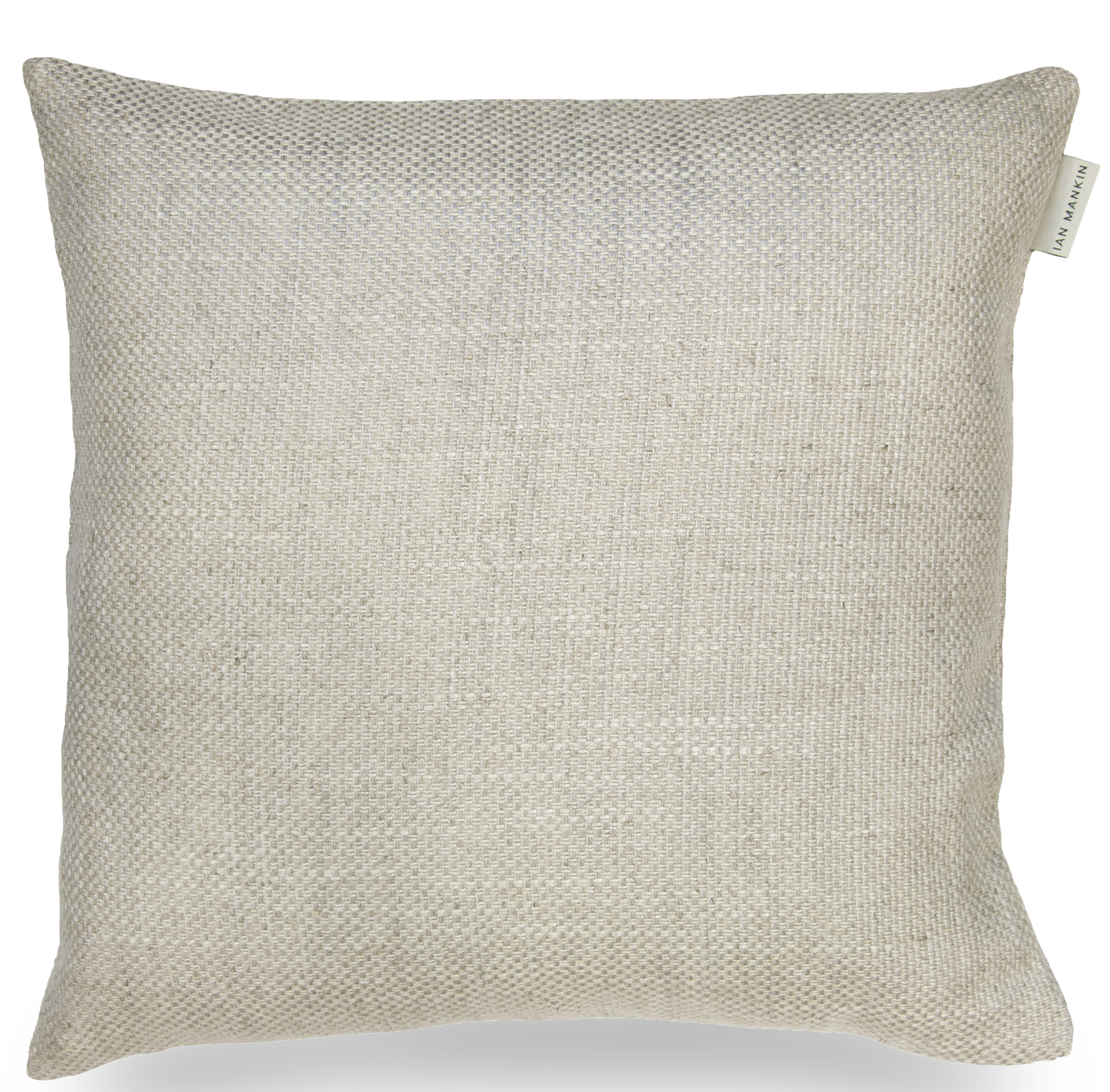 Ian Mankin Perth Light Grey Cushion CU190 104 4040 40x40cm