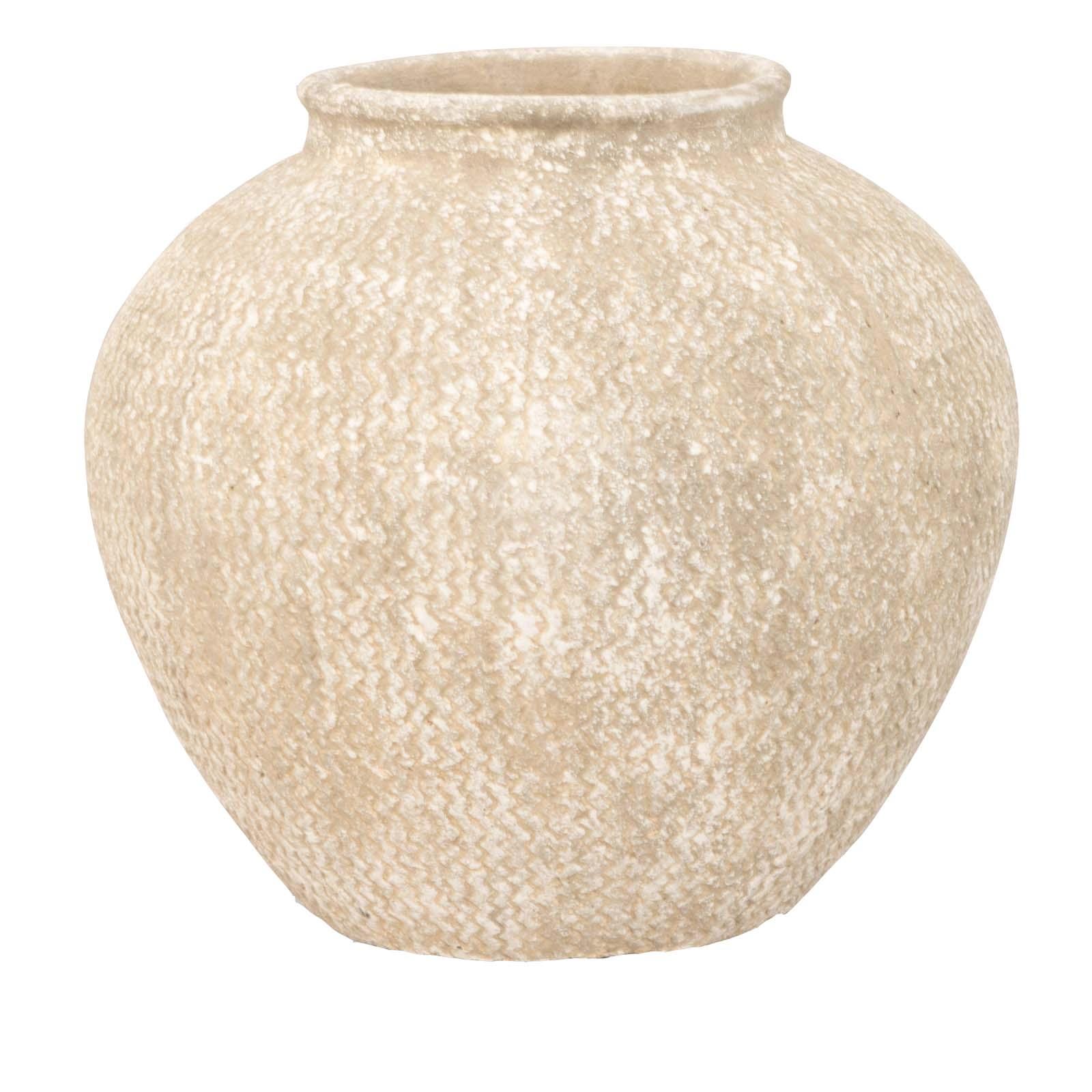 Ludlow Etched Rounded Stone Vase 1