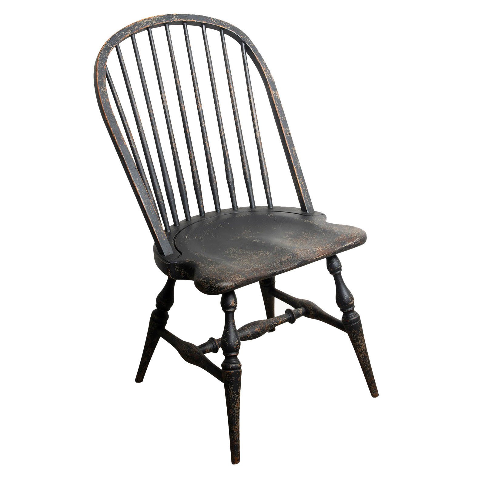Richmond Distressed Black Windsor Chair 1 copy