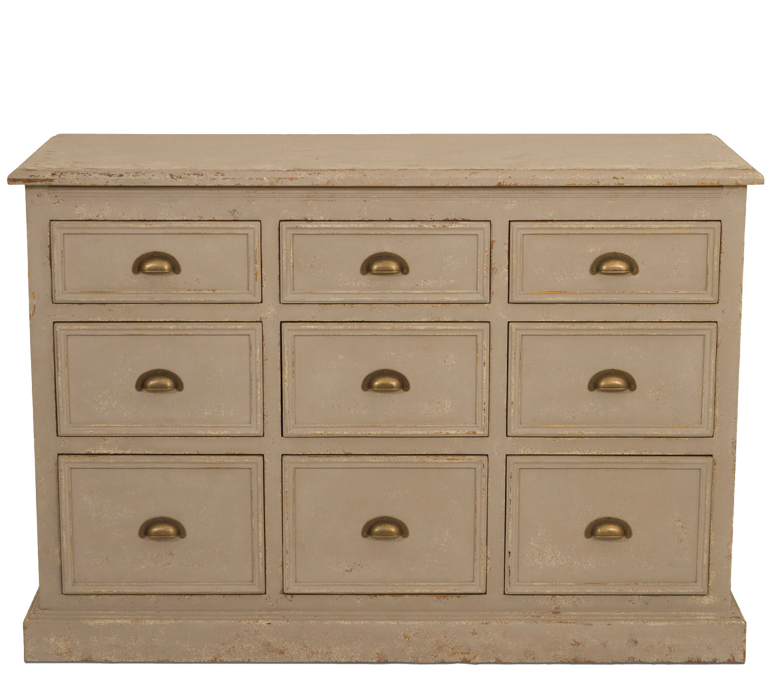 Richmond Nine Drawer Colonial Grey Console 1