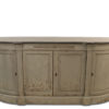 Richmond Rounded 4 Door Grey Sideboard With Stone Top 1