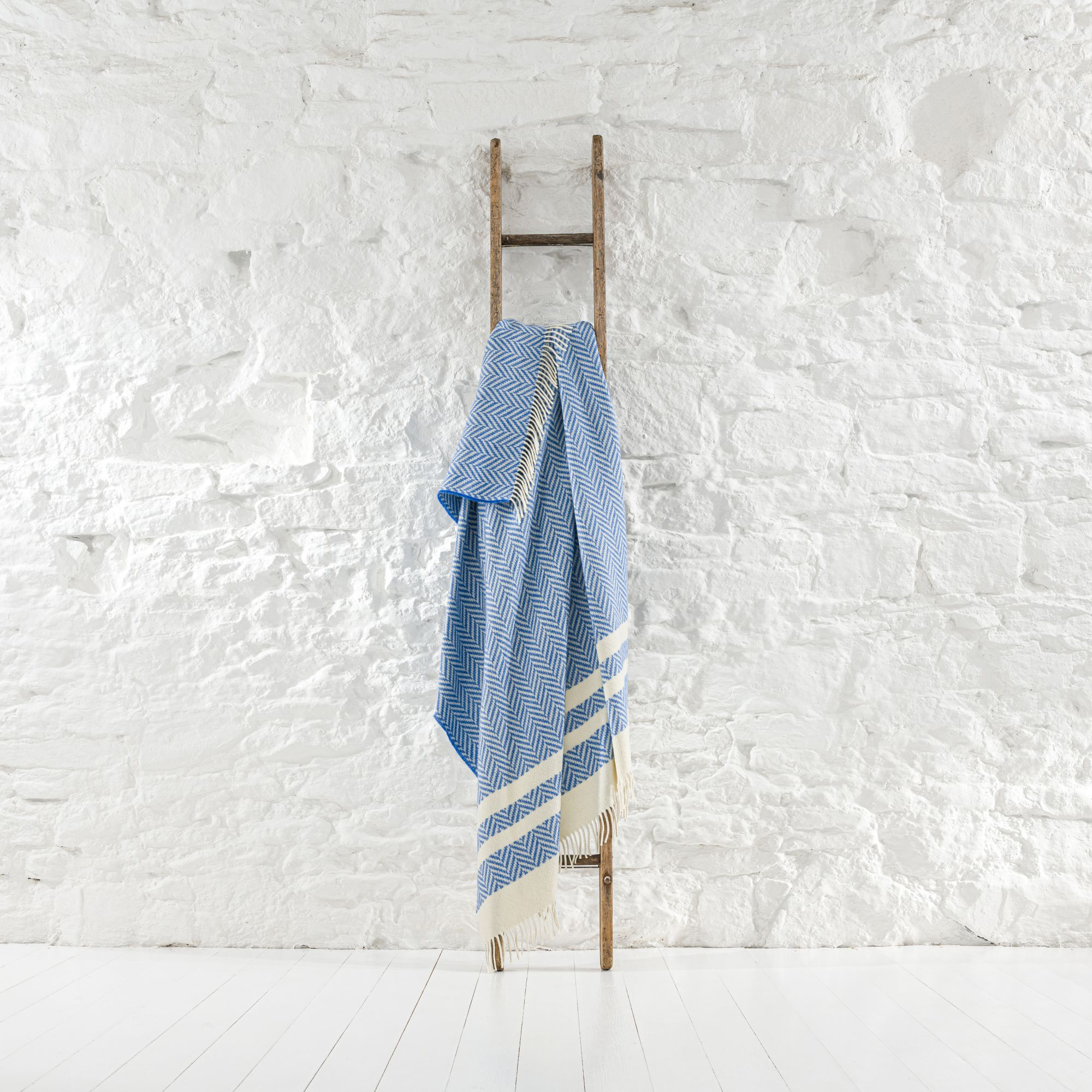 Striped Cobalt Throw