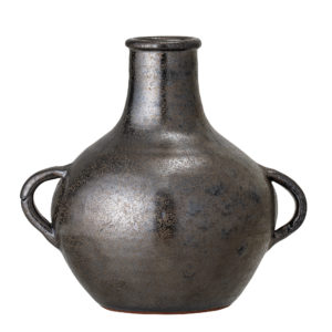 Black Terracotta Deco Vase