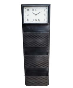 Clock with Documents Holder