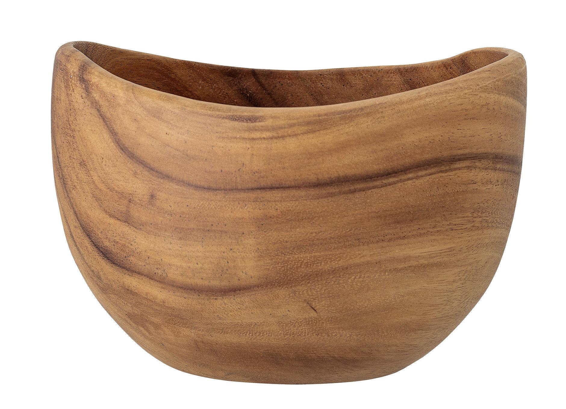 Curved Acacia Wood Bowl