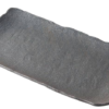Dark Stone Slab Platter with a Textured Finish