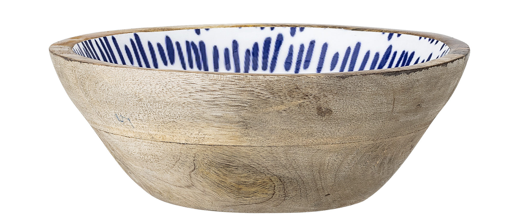Enamel Mango Wood Bowl
