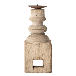 Sajai Recycled Wood Candle Holder