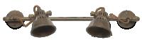Anandur Brass Sliding Wall Light rust 1 TL0402