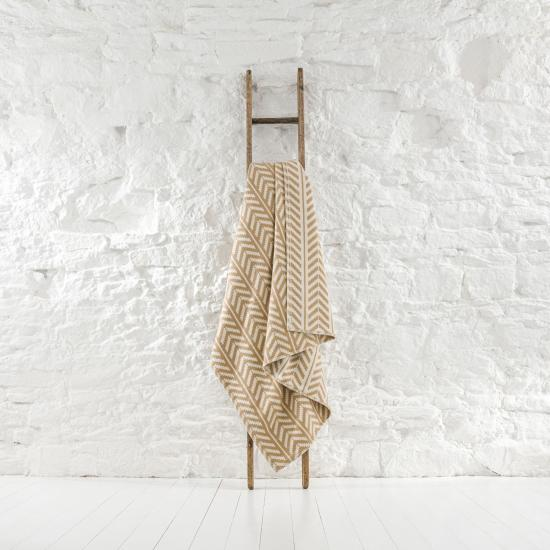 Warden Striped Parchment Throw TH285 203