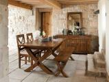Extending Leg Dining Table in situ Bordeaux 002 scaled