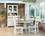 Aspen Round Dining Table Narrow Sideboard in situ scaled
