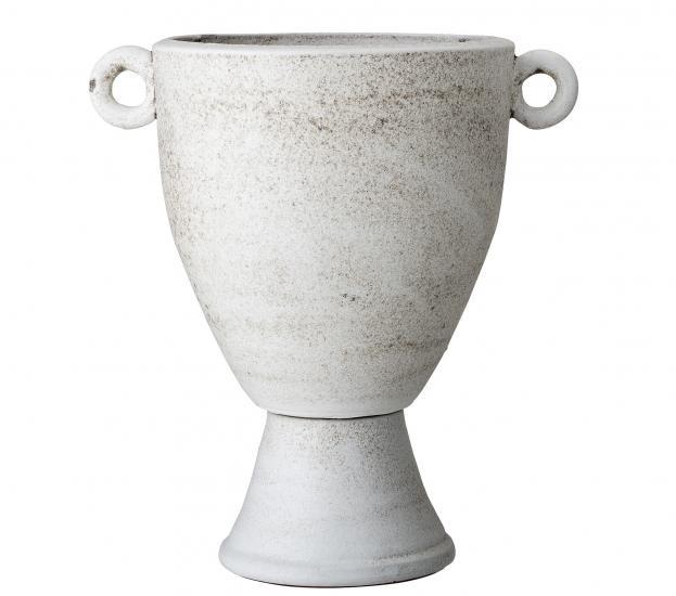 White Terracotta Deco Vase
