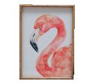 Flamingo Frame Bamboo Style