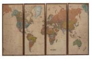 World Map Wood Panels