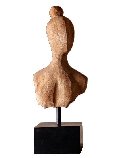 Wooden Lady Sculpture