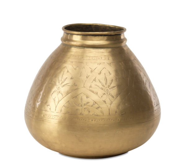 Amorli Round Brass Pot 1 NP02 WB e1573123748954