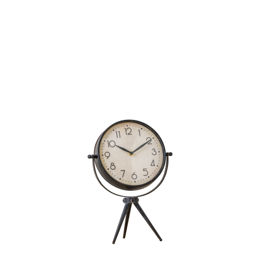 Desk Clock on Tripod Stand Cut Out