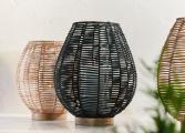 Kashil Wicker Lantern black 3 NL16
