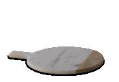 Rukadi Round Marble Board white 2 BB5701 WB